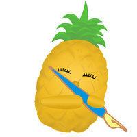 大步走的菠萝
