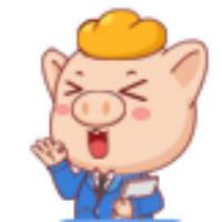 羞答答的小猪