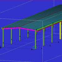 蓝天轻钢结构设计、详图设计